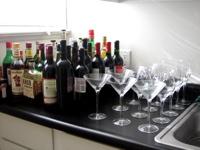 booze on kitchen counter