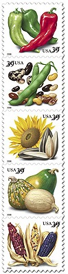 Crops of the Americas stamps