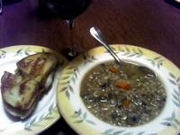 Mushroom-Barley soup (c)2006 AEC