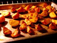 roasting potatoes (c)2006 AEC