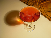 campari champagne cocktail