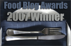 2007 Food Blog Awards WINNER!