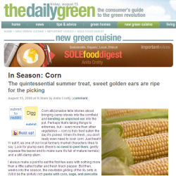 SOLE Food Digest on The Daily Green